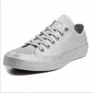 NWOB Converse All Star silver monochrome sneakers